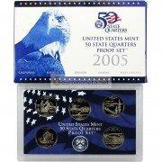 США набор квотеров 25 центов 2005 S пруф proof 5 монет