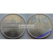 ФРГ 5 марок 1971 год G серебро 100 лет Германской империи
