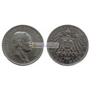 "Германская империя Саксония 3 марки 1911 год ""E"" Фридрих Август III. Серебро"