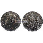 """Германская империя Бавария 3 марки 1912 год """"D"""" Отто. Серебро"""