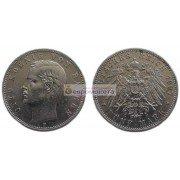 """Германская империя Бавария 5 марок 1907 год """"D"""" Отто. Серебро"""