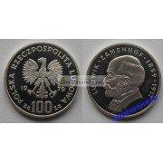 Польша 100 злотых 1979 год 120 лет со дня рождения Людвика Заменгофа серебро