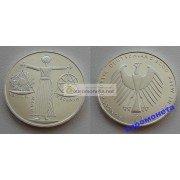 Германия 10 марок 2000 год A серебро Expo 2000 — Всемирная выставка Expo 2000 в Ганновере