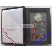 США набор 1989 год Prestige Set Proof серебряный доллар Конгресса 7 монет