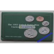 США полный годовой набор монет 1993 год P D Кеннеди АЦ 10 монет