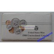 США полный годовой набор монет 1988 год P D Кеннеди АЦ 10 монет