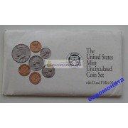 США полный годовой набор монет 1992 год P D Кеннеди АЦ 10 монет