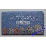 США полный годовой набор монет 1991 год P D Кеннеди АЦ 10 монет