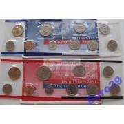 США полный набор монет 2002 год 20 монет Кеннеди Денвер (D), Филадельфия (P) АЦ
