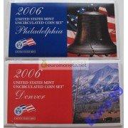 США полный набор монет 2006 год 20 монет Кеннеди Денвер (D), Филадельфия (P) АЦ