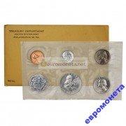 США набор 1961 год P Франклин 5 монет серебро пруф