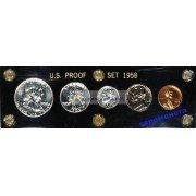 США специальный набор 1958 год пруф Proof Франклин серебро