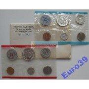 США набор 1963 год Денвер (D), Филадельфия (P) Франклин серебро