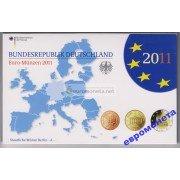 Германия годовой набор евро 2011 год A пластиковый бокс UNC АЦ