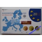 Германия годовой набор евро 2012 год A пластиковый бокс пруф