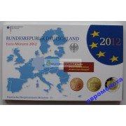 Германия годовой набор евро 2012 год D пластиковый бокс пруф