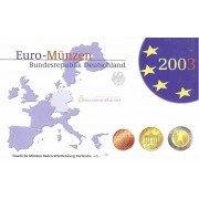 Германия годовой набор евро 2003 год G пластиковый бокс пруф