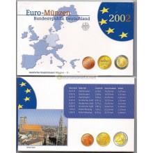 Германия годовой набор евро 2002 год D пластиковый бокс пруф