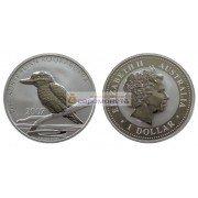Австралия 1 доллар 2007 год Австралийская кукабарра. Серебро. Пруф