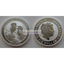 Австралия 1 доллар 2013 год Австралийская Кукабарра. Серебро. Пруф