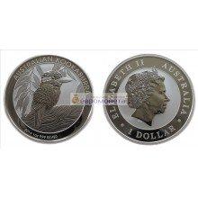 Австралия 1 доллар 2014 год Австралийская Кукабарра. Серебро. Пруф