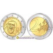 Франция 2 евро 2012 год 100 лет со дня рождения аббата Пьера, биметалл АЦ из банковского ролла