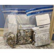 МИР 5 кг 5000 гр иностранных монет микс только монеты экзотика в запаянном мешке из Европы