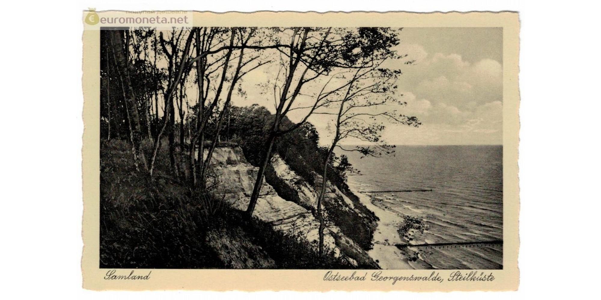 Открытка Пруссия Georgenswalde, Георгенсвальде Отрадное Балтийское море Lamland