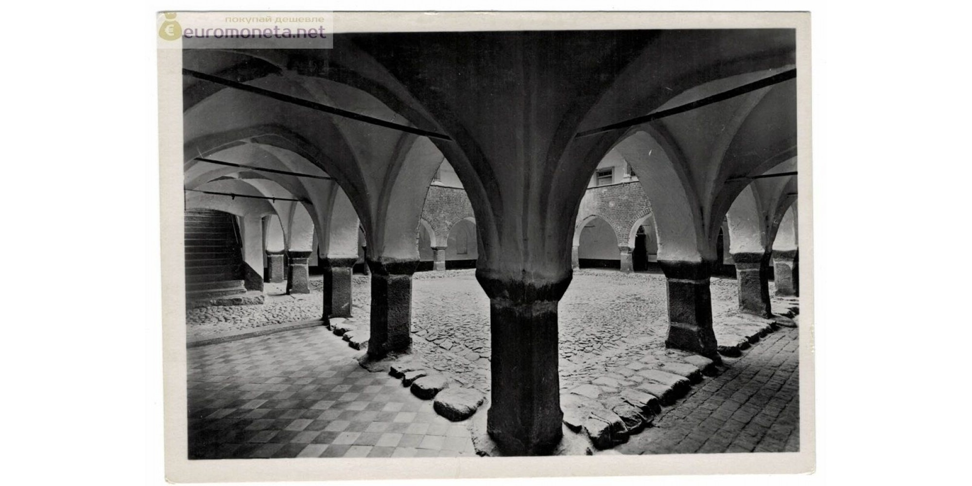 Открытка Пруссия Кёнигсберг Kenigsberg Калининград Королевский замок дворик