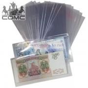Защитный лист-обложка (холдер) BASIC 165 для банкнот (80х165 мм). Упаковка 10 шт. Россия.