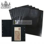 Лист для банкнот Optima, 1 ячейка на чёрной основе, пр-во СОМС, Россия