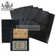 Лист для банкнот Optima, 2 ячейки на чёрной основе, пр-во СОМС, Россия