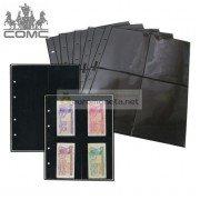 Лист для банкнот Optima, 4 ячейки на чёрной основе, пр-во СОМС, Россия