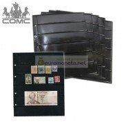 Лист для банкнот, марок и прочего Optima, 6 ячеек на чёрной основе, пр-во СОМС, Россия